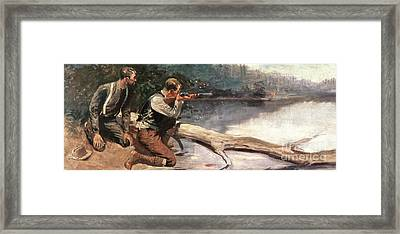 The Winchester Framed Print by Frederic Remington