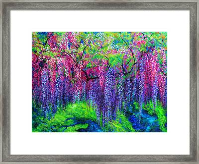 The Wind Whispers Wisteria Framed Print by Julie Turner