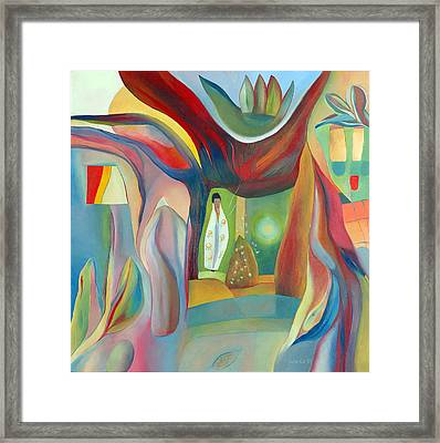 The Wind Whistled Through The Cherry Tree Framed Print