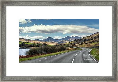 The Winding Road Framed Print
