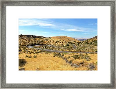 The Winding Road In Central Oregon Framed Print
