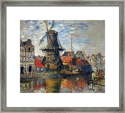 The Windmill Amsterdam Claude Monet 1874 Framed Print by Movie Poster Prints