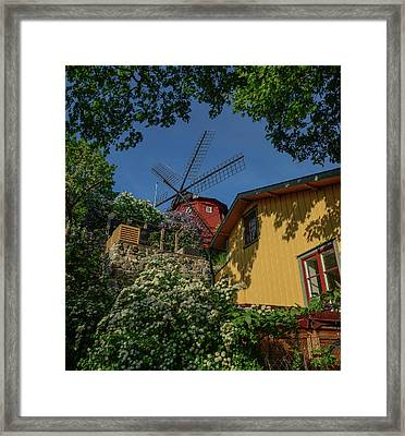 The Windmill At The Top Framed Print by Jonas Sundberg