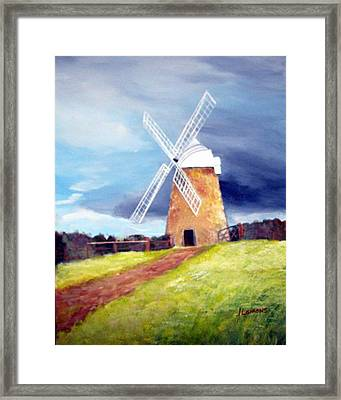 The Windmill Framed Print by Julie Lamons