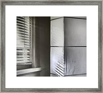 The Window And The Lamp Framed Print