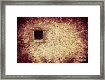 The Window Framed Print by Angela Doelling AD DESIGN Photo and PhotoArt