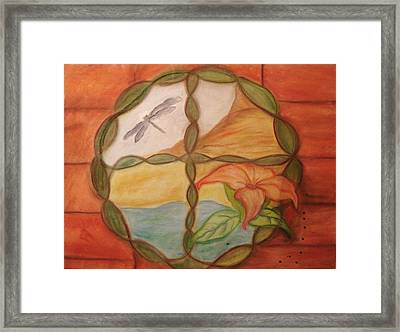 The Window Framed Print by Michelle  Thomann-Ramirez