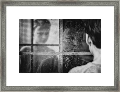 The Window Framed Print by Mirjam Delrue