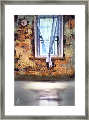 Framed Print featuring the digital art The Window by Pennie McCracken
