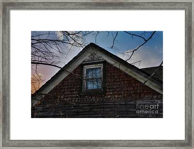 The Window Framed Print by Russie Marshall