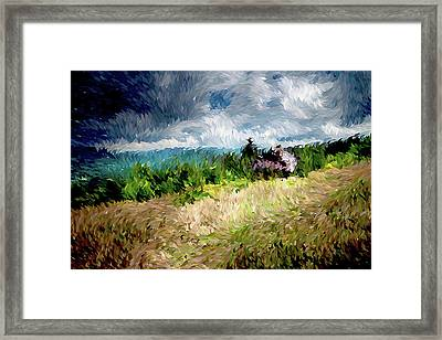 The Winds Come As Night Falls Impressionism Framed Print by Georgiana Romanovna