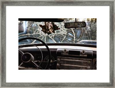 The Windshield  Framed Print
