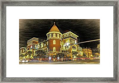 The Windsor Hotel - Americus, Ga - Digital Sketch Framed Print by Stephen Stookey