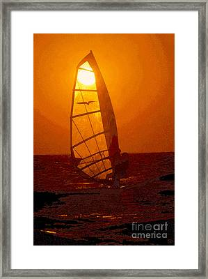 The Windsurfer Framed Print by David Lee Thompson