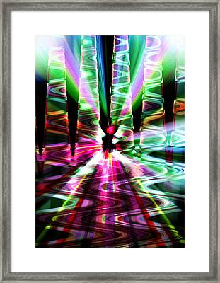 Framed Print featuring the photograph The Windy Road by Cherie Duran