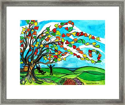 The Windy Tree Framed Print