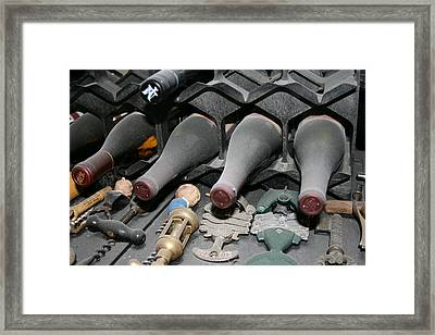 The Wine Cellar Framed Print by Angie Wingerd