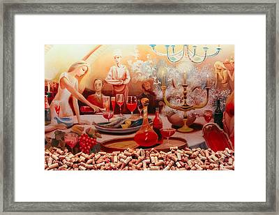 The Wine Cellar Mural Framed Print