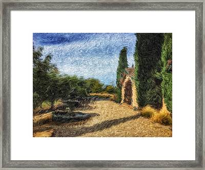 The Wine Country Framed Print