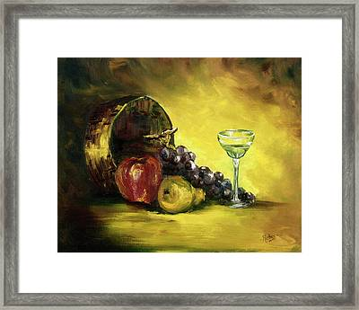 The Wine Glass Framed Print by Cathy Robertson