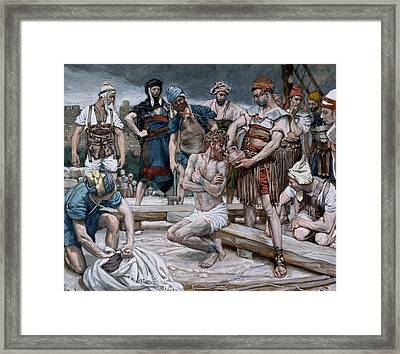 The Wine Mixed With Myrrh Framed Print
