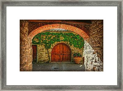 The Winery's Entrance Framed Print