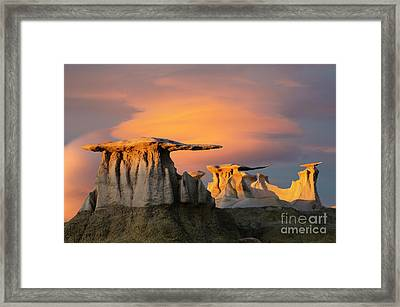 The Wings Of The Bisti Framed Print by Bob Christopher