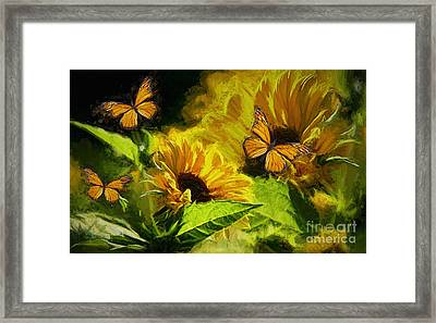 The Wings Of Transformation Framed Print by Tina  LeCour