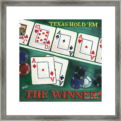 The Winner Framed Print by Debbie DeWitt