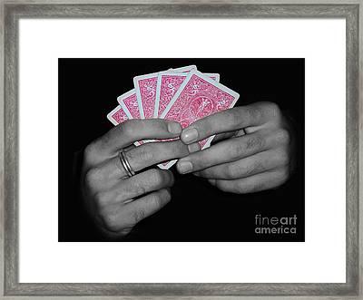 The Winning Hand Framed Print