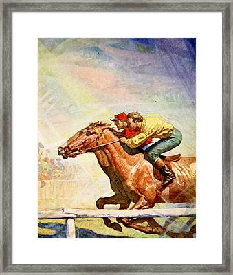 The Winning Post Framed Print by Newell Convers Wyeth