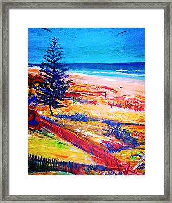 Framed Print featuring the painting The Winter Dunes by Winsome Gunning