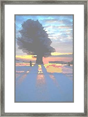 The Winter Lonely Tree Framed Print by Dr Loifer Vladimir