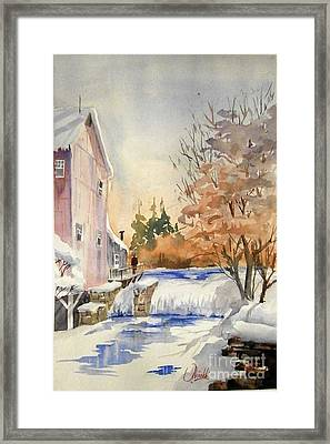 The Winter Mill Framed Print