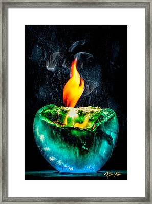 The Winter Of Fire And Ice Framed Print