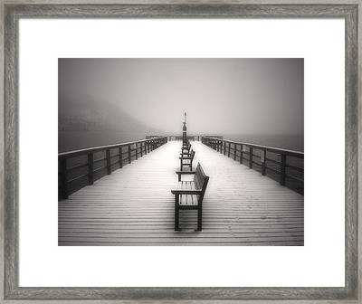 The Winter Pier Framed Print by Tara Turner