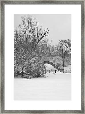 The Winter White Wedding Bridge Framed Print