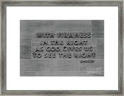 The Wisdom Of Abraham Lincoln Framed Print by James Brunker