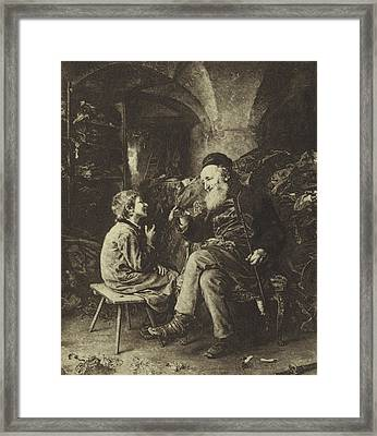 The Wisdom Of Solomon Framed Print by Ludwig Knaus