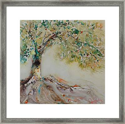 Framed Print featuring the painting The Wisdom Tree by Joanne Smoley