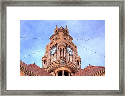 The Wise County Courthouse Clock Tower Framed Print by JC Findley