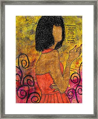 The Wise Lady Who Lives Next Door Framed Print by Angela L Walker