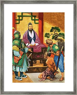 The Wise Man Of China  Confucious Framed Print by Peter Jackson