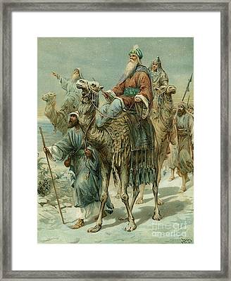The Wise Men Seeking Jesus Framed Print by Ambrose Dudley