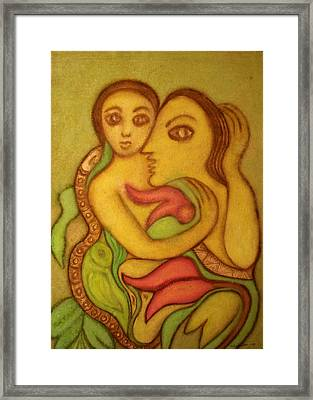The Wise Serpent Framed Print by Nabakishore Chanda