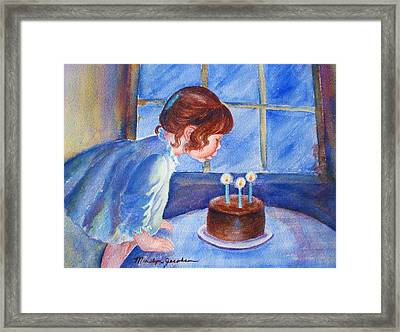 The Wish Framed Print by Marilyn Jacobson