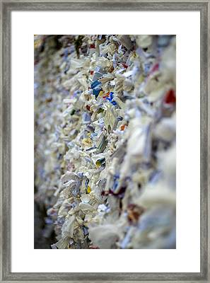 The Wishing Wall At The House Of The Virgin Mary In Ephesus Turkey Framed Print