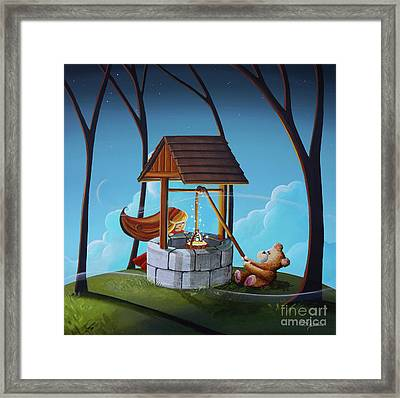 The Wishing Well Framed Print by Cindy Thornton