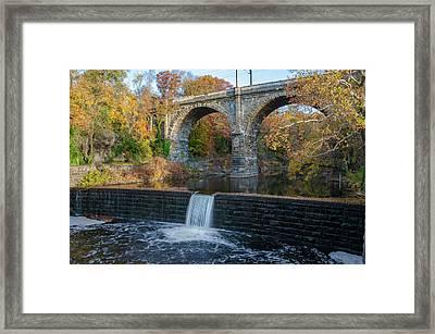 The Wissahickon Creek At Ridge Avenue In Autumn Framed Print