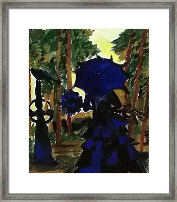 The  Witch Framed Print by Miss Ratul Banerjee